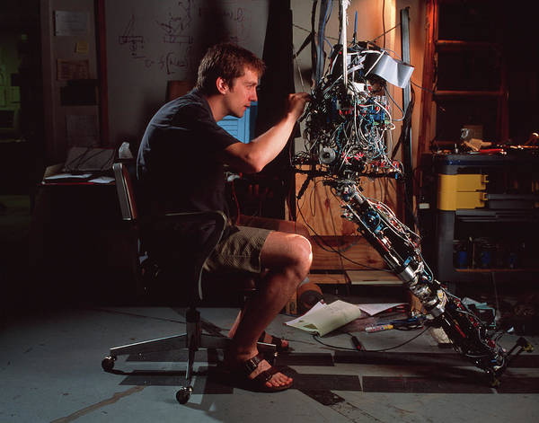 Wall Art - Photograph - Walking Robot by Peter Menzel/science Photo Library
