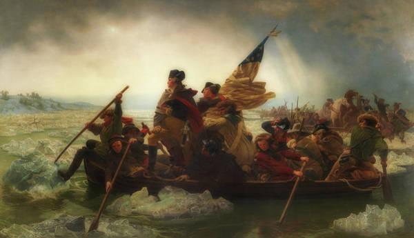 Bremen Wall Art - Painting - Washington Crossing The Delaware  by Emanuel Leutze