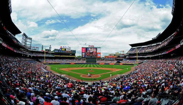 Turner Field Photograph - Washington Nationals V Atlanta Braves by Scott Cunningham