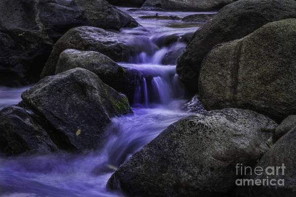 Green And Gray Photograph - Water And Rock by Mitch Shindelbower