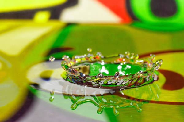 Photograph - Water Crown by Peter Lakomy