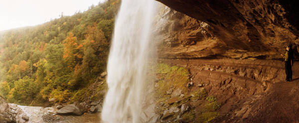 Catskill Photograph - Water Falling From Rocks, Kaaterskill by Panoramic Images