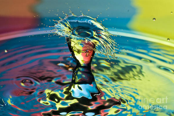 Water Splash Having A Bad Hair Day Art Print