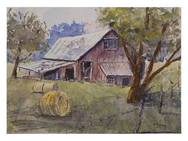 Photograph - Water Valley Barn by Barry Jones