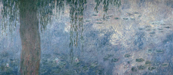 Nympheas Wall Art - Painting - Waterlilies Morning With Weeping Willows by Claude Monet