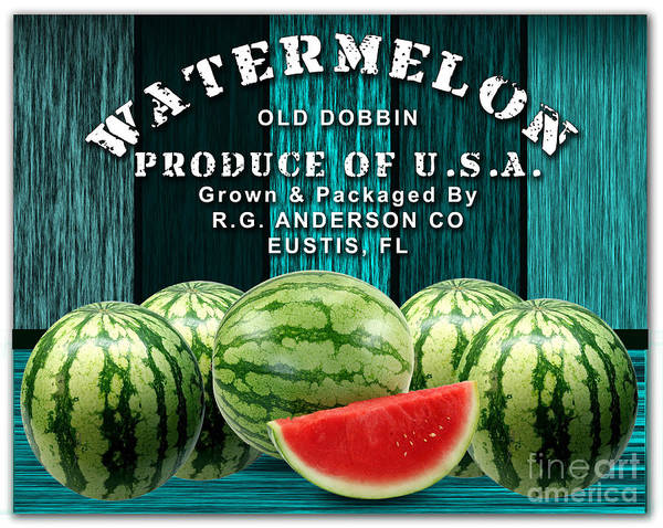 Watermellon Wall Art - Mixed Media - Watermelon Farm by Marvin Blaine