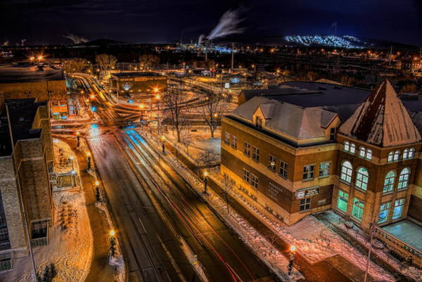 Photograph - Wausau After Dark by Dale Kauzlaric