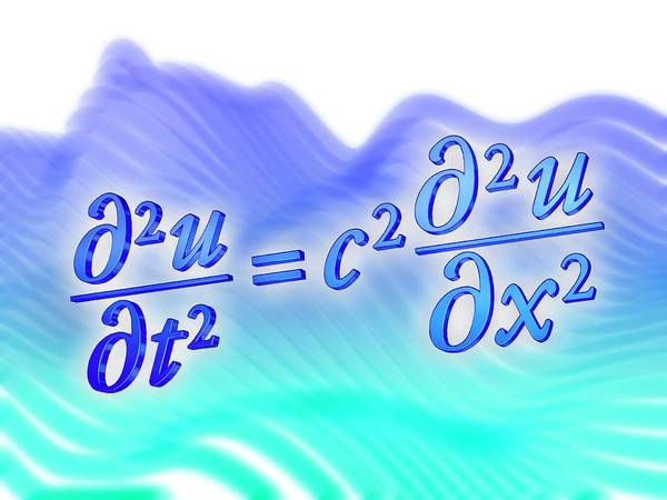 Equation Wall Art - Photograph - Wave Equation by Alfred Pasieka