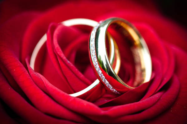 Vows Photograph - Wedding Rings by Ralf Kaiser