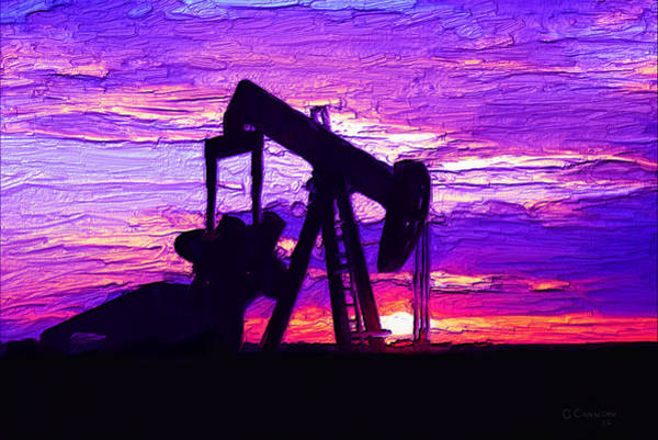 Oil Well Mixed Media - West Texas Intermediate by G Cannon