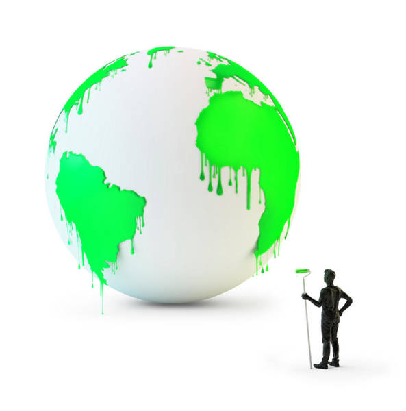 Wall Art - Photograph - Wet Green Paint Dripping From The Globe by Andrzej Wojcicki/science Photo Library