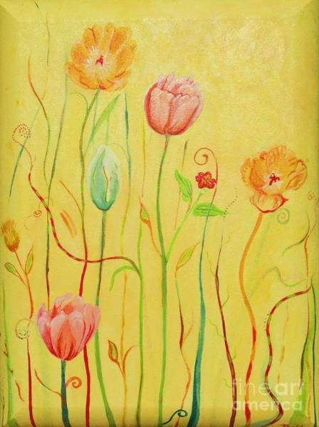 Wall Art - Painting - Whimsical Garden by Christine Belt