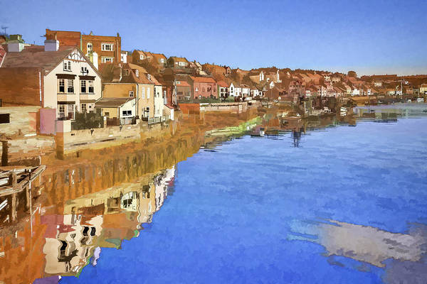 Photograph - Painted Effect - Whitby by Susan Leonard