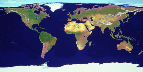 Imagery Photograph - Whole Earth by Copyright Tom Van Sant/geosphere Project, Santa Monica/science Photo Library