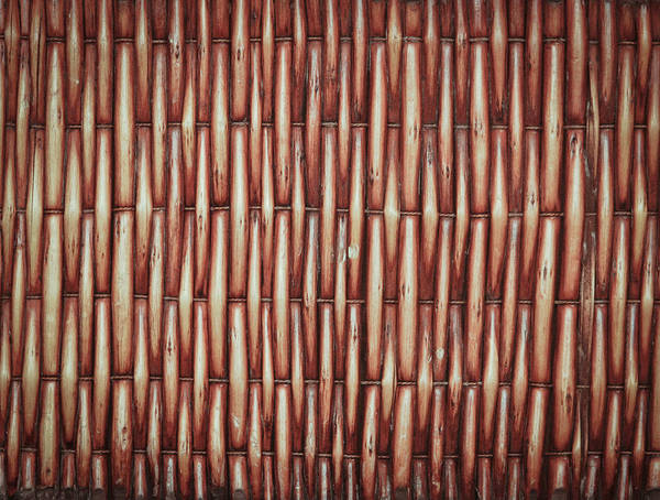 Brown Wall Art - Photograph - Wicker Background by Tom Gowanlock