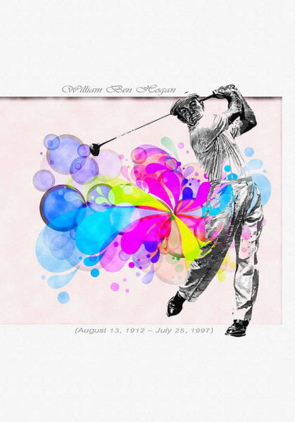 Lpga Digital Art - William Ben Hogan by Don Kuing