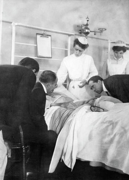 Diagnose Photograph - William Osler Attending A Patient by National Library Of Medicine