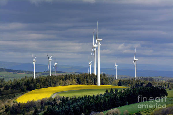 Breath Photograph - Wind Turbines by Bernard Jaubert