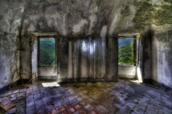 Photograph - 2 Windows And The Bicycle At Balestrino The Ghost Town by Enrico Pelos
