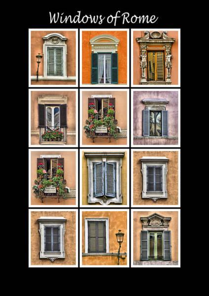 Windows Of Rome Art Print