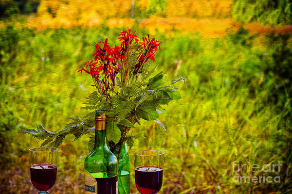 Photograph - Wine And Flowers by Les Palenik