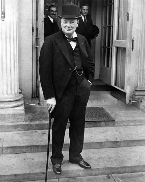 Cigar Photograph - Winston Churchill by Retro Images Archive