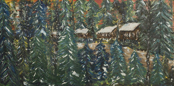 Painting - Winter Has Come To Door County. by Andrew J Andropolis