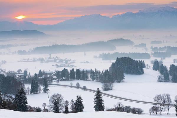 Wall Art - Photograph - Winter Sunrise Sihlotte In Allgaeu by Ingmar Wesemann