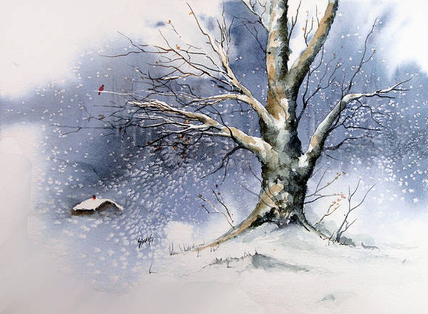 Painting - Winter Tree by Sam Sidders
