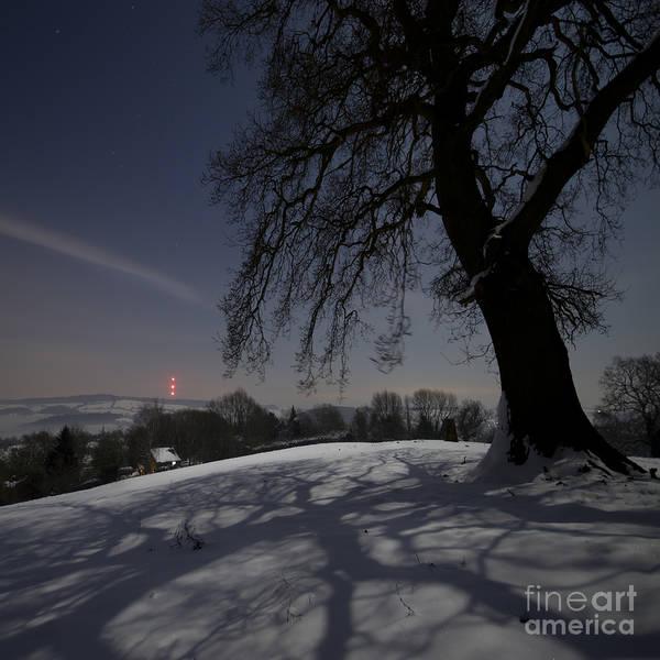 Wall Art - Photograph - Wintery Landscape In The Night by Angel Ciesniarska