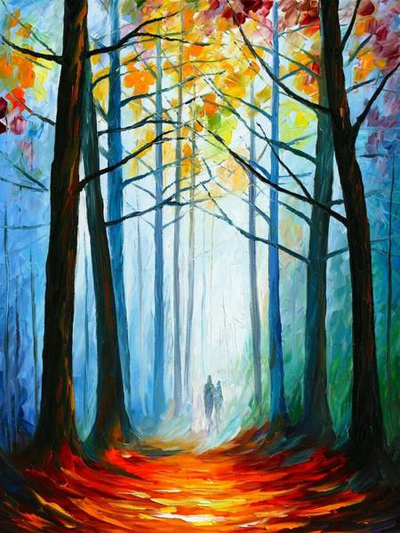 Wall Art - Painting - Wise Forest by Leonid Afremov