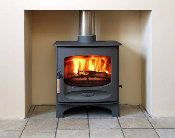 Fire House Photograph - Wood-burning Stove by Victor De Schwanberg