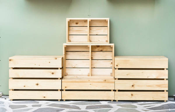 Pallet Wall Art - Photograph - Wooden Crates by Tom Gowanlock