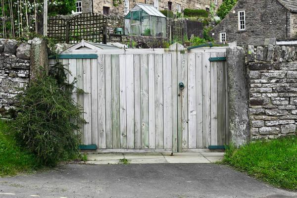 Doorknob Photograph - Wooden Gate by Tom Gowanlock