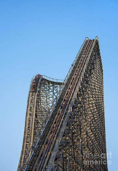 El Toro Photograph - Wooden Roller Coaster by John Greim
