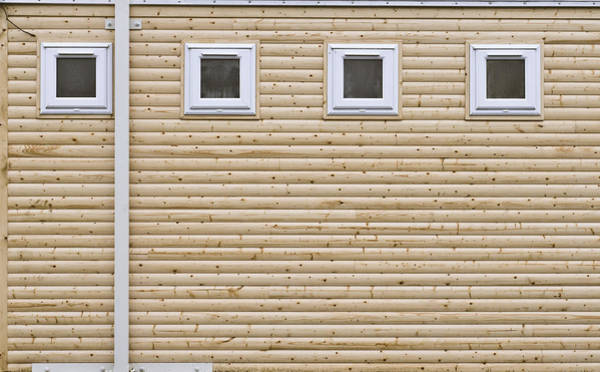 Drainage Photograph - Wooden Wall by Tom Gowanlock