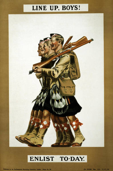 Recruitment Painting - Wwi Recruitment Poster by Granger