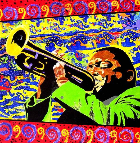 Painting - Wynton Marsalis Plays Louis Armstrong by Neal Barbosa