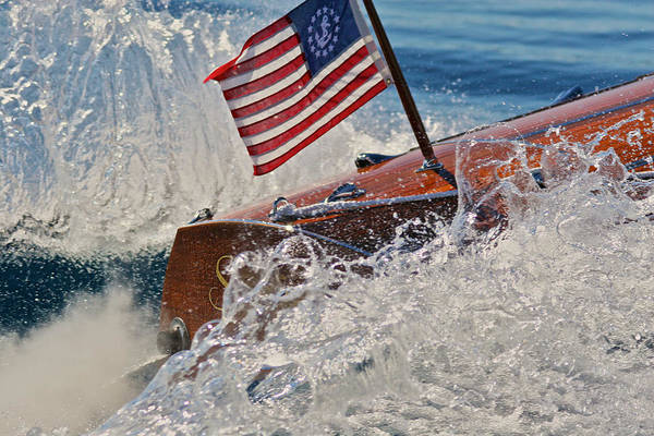Photograph - Yacht Ensign by Steven Lapkin