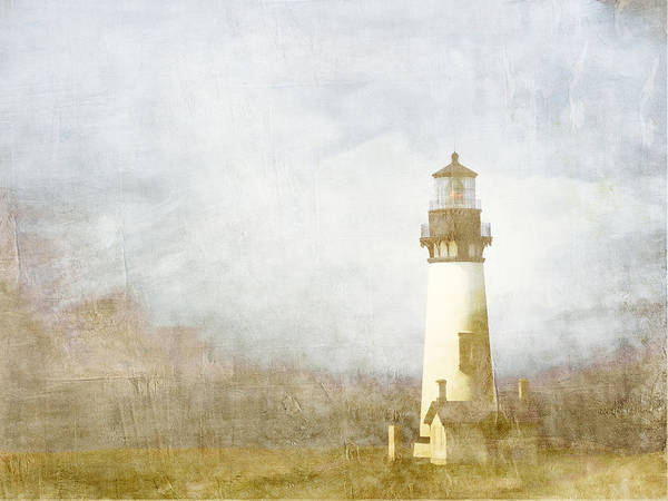 Sentinel Photograph - Yaquina Head Light by Carol Leigh
