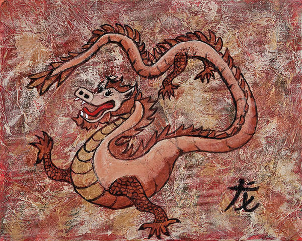 Painting - Year Of The Dragon by Darice Machel McGuire