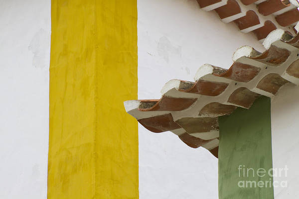 Photograph - Yellow And Green Lines To The Roofs by Heiko Koehrer-Wagner