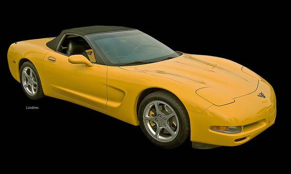 Photograph - Yellow Corvette 2 by Larry Linton