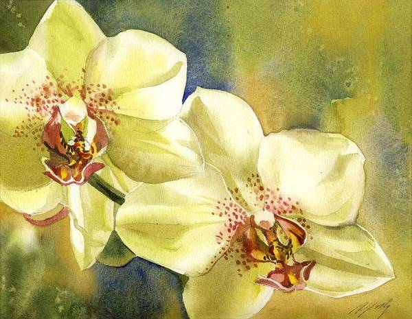 Painting - Yellow Orchids by Alfred Ng