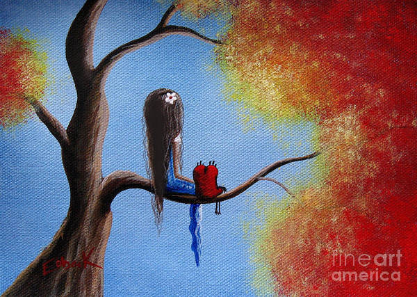 Happy Little Trees Painting - You Make My World A Better Place By Shawna Erback by Erback Art