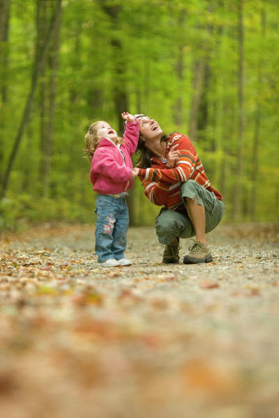 Ossipee Wall Art - Photograph - Young Woman And Child Exploring by Justin Bailie
