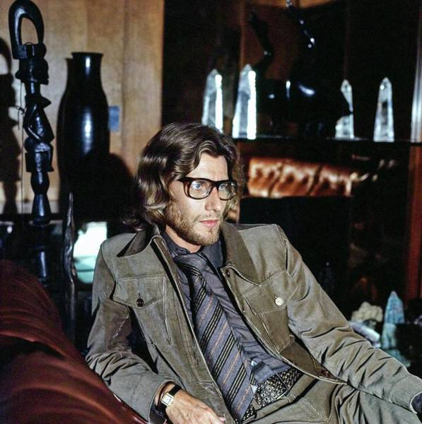 Wall Art - Photograph - Yves Saint Laurent At Home by Horst P. Horst