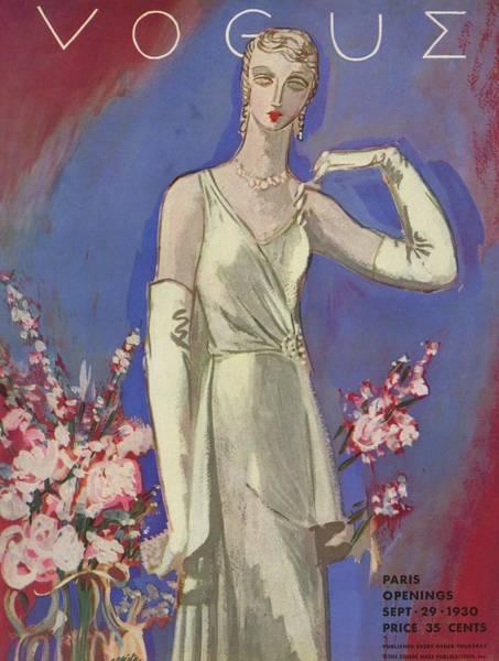 Wealth Photograph - A Vintage Vogue Magazine Cover Of A Woman by Eduardo Garcia Benito