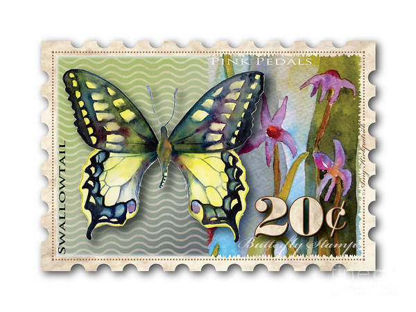 Wall Art - Painting - 20 Cent Butterfly Stamp by Amy Kirkpatrick