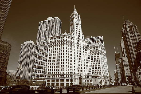 Photograph - Chicago Skyline by Frank Romeo